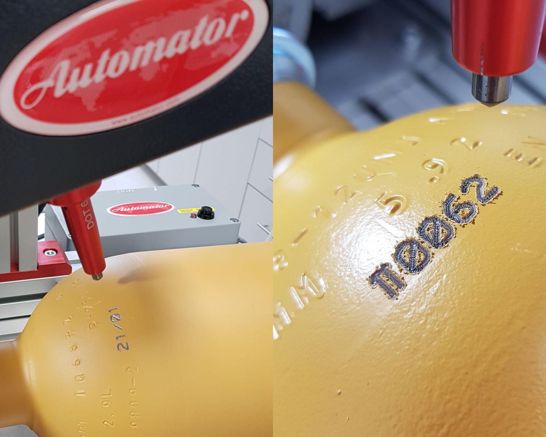 маркиране на бутилки под налягане
